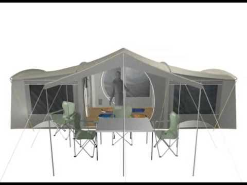 sc 1 st  YouTube & Aspiring 3-Room Canvas Tent - YouTube