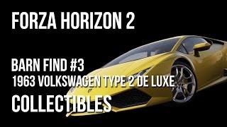 Forza Horizon 2 Barn Find #3 Location Guide - 1963 Volkswagen Type 2 De Luxe