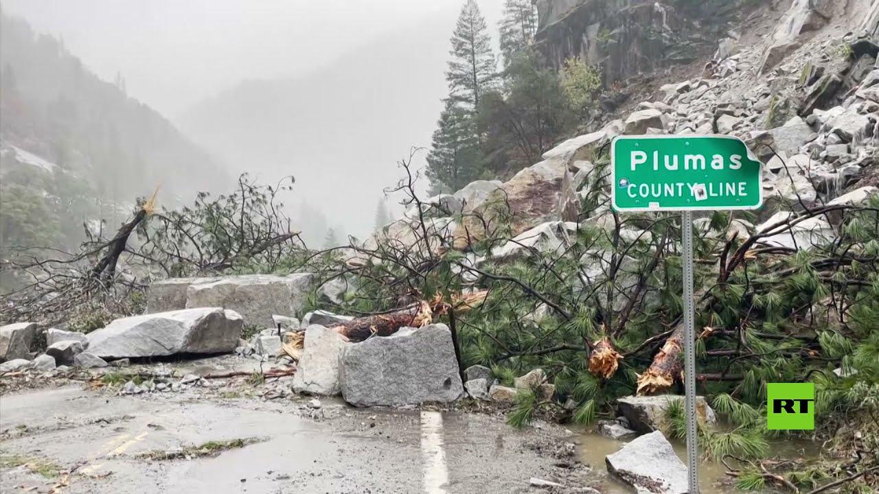 انهيار أرضي في كاليفورنيا تسببه عاصفة قوية وفيضانات  - نشر قبل 51 دقيقة
