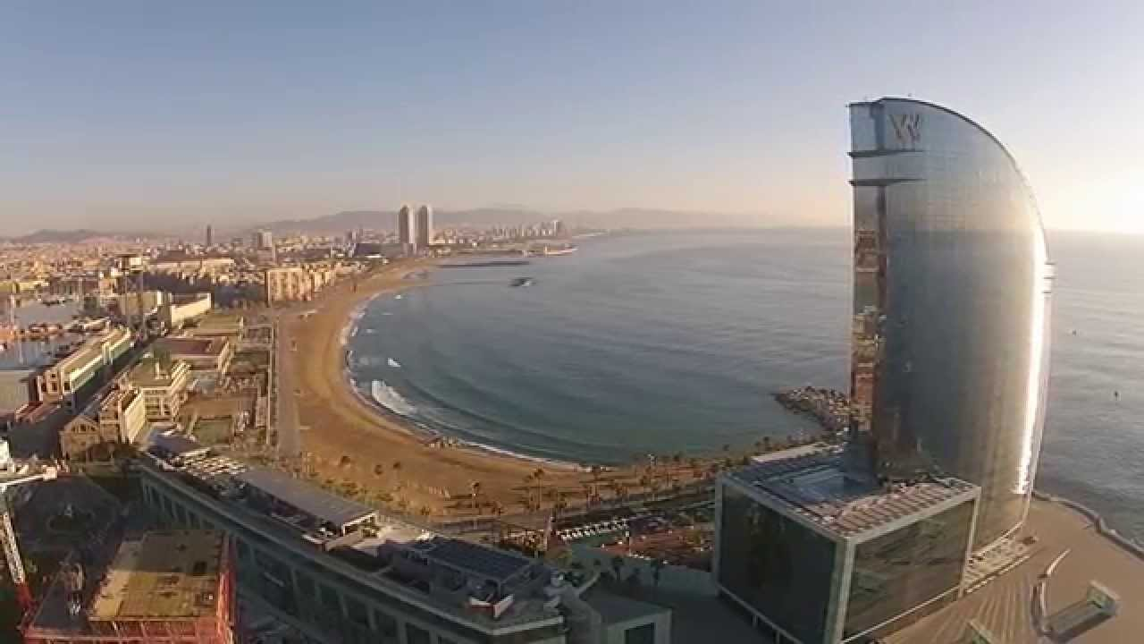 Hotel w barcelona bcndji dji phantoom 2 vision youtube for Hotel w barcelona precios