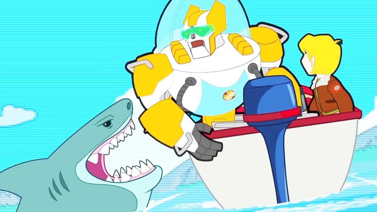 Transformers Official | Video Game SHARK ATTACK  | Full Episode | Transformers Rescue Bots