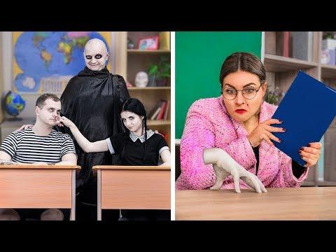 The Addams Family At School! / 9 DIY The Addams Family Schoo