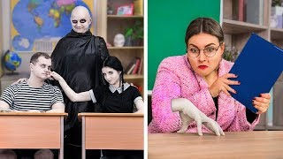 Download lagu The Addams Family At School! / 9 DIY The Addams Family School Supplies