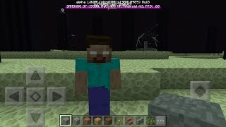 What Happens When You Spawn Herobrine in The End? - Minecraft PE (Pocket Edition)