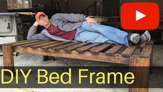 Farmhouse Bed Frame ( DIY)