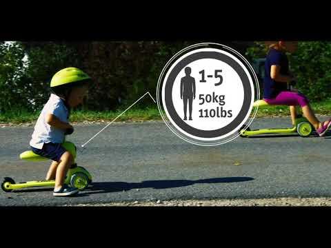 Scoot&Ride Детский трехколесный самокат с сиденьем