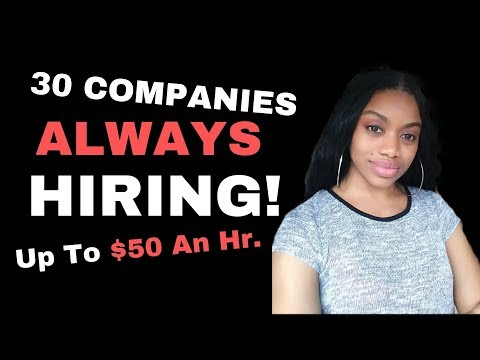 Companies ALWAYS HIRING L Work From Home L $50 An Hr.