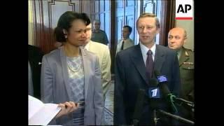 US Nat Security Adv Condoleeza Rice meets Russian Defence Min