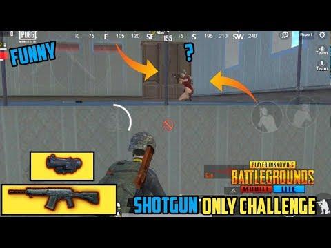 PUBG MOBILE LITE SHOTGUN ONLY CHALLENGE || FUNNY MOMENTS