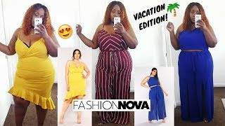 SHADE AND A VACAY! PLUS SIZE FASHION NOVA HAUL! VACATION EDITION