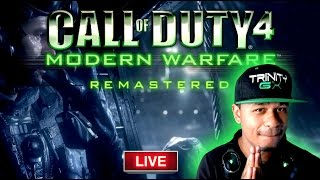 COD4 REMASTERED GAMEPLAY! THE FIRST COD4 REMASTERED MISSION!