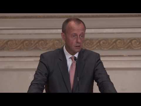 "Gastreferat Friedrich Merz, Vorsitzender Atlantik-Brücke, ""Europa und USA - Je t'aime moi non plus"""