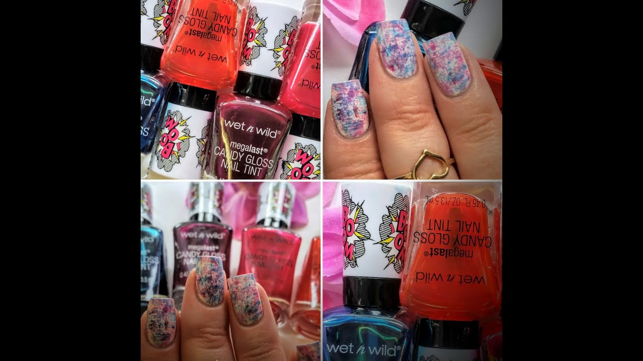 Wet-N-Wild *Candy Gloss Nail Tint* Swatch & Review!!! - YouTube