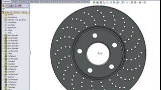 SolidWorks tutorial: Brake disk