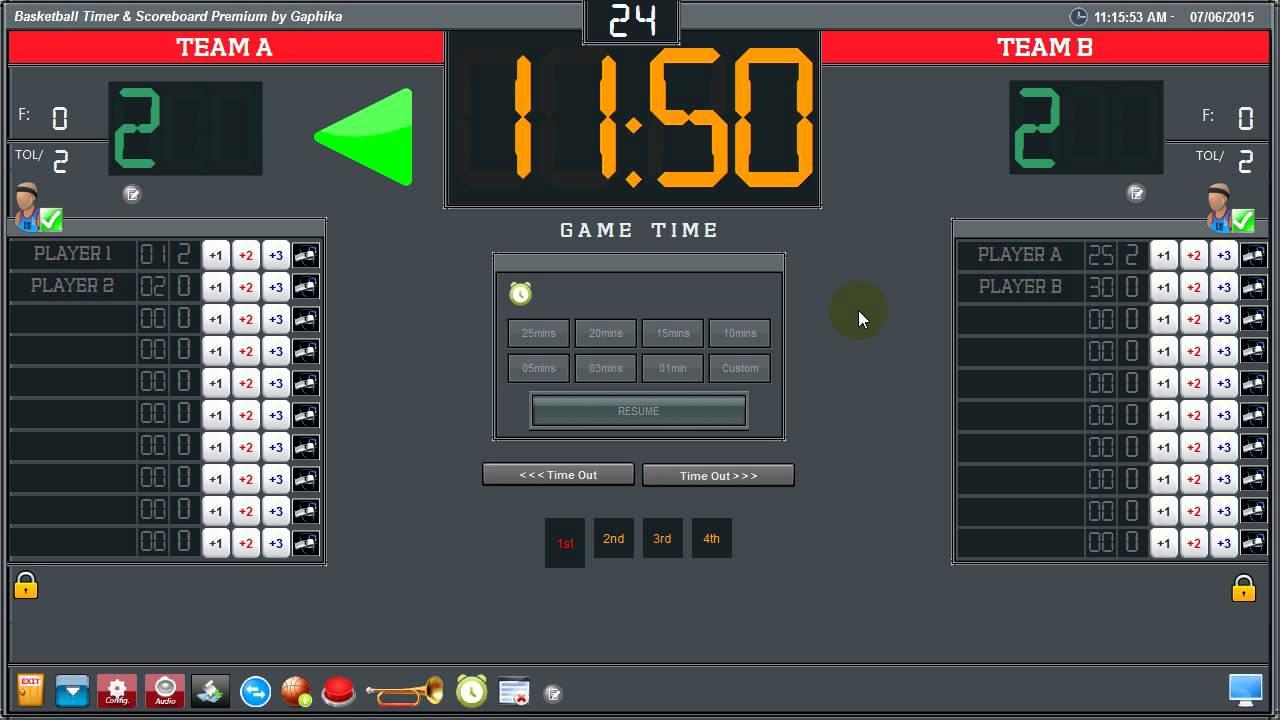 Zen basketball bigscreen (news) virtual basketball scoreboard.