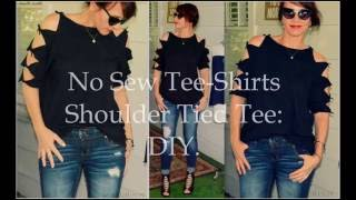 Shoulder Tied Tee Shirt