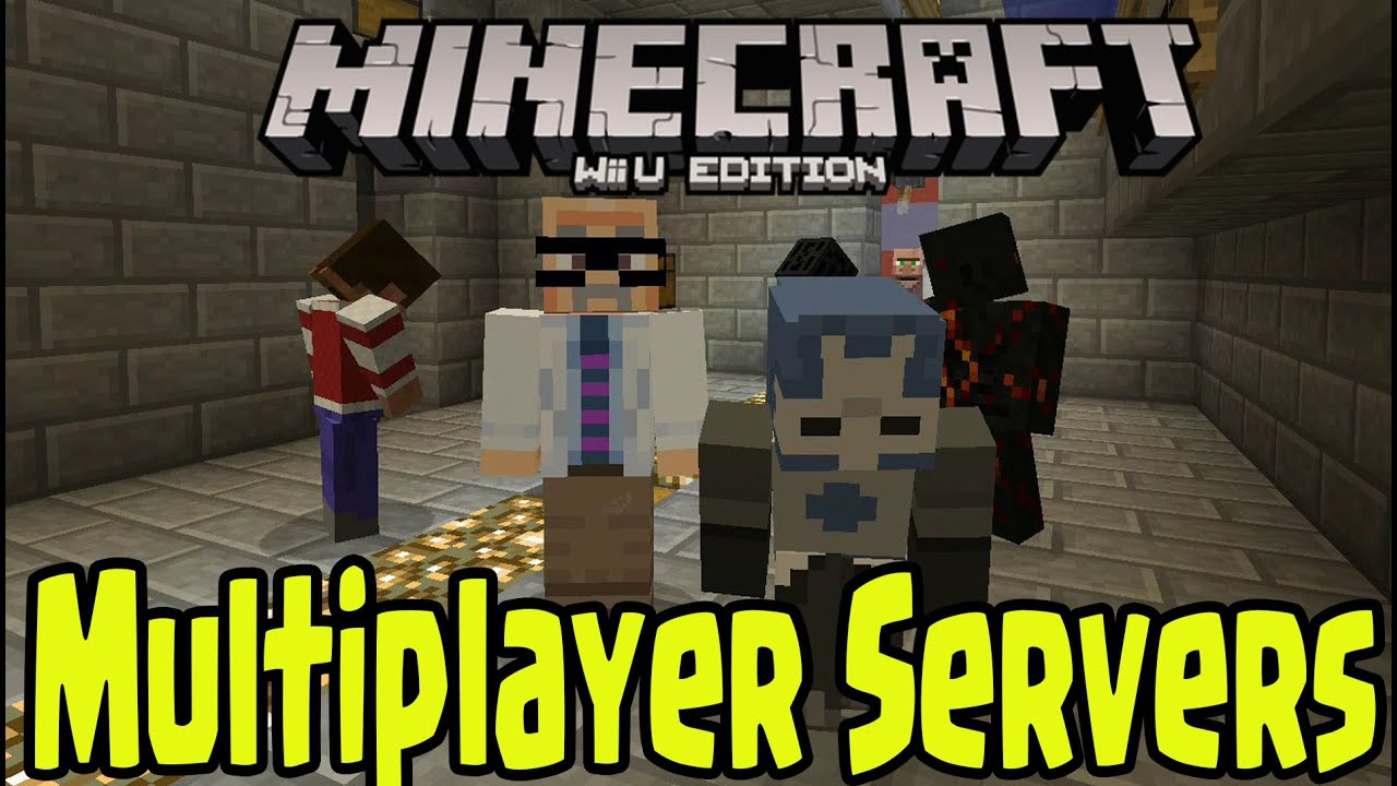 Minecraft Wii U Edition MULTIPLAYER GAMEPLAY SERVERS DETAILS - Minecraft online spielen wii u