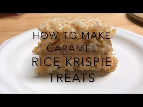 DIY How To Make Caramel Rice Krispie Treats - Rice Krispie Marshmallow Bars