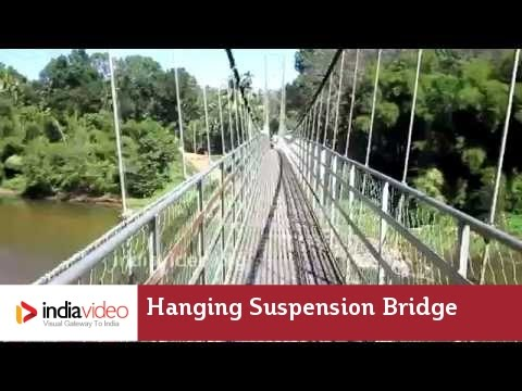 Walk through this hanging steel bridge if you dare