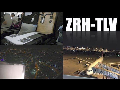 Trip Report - Swiss BUSINESS Class Zurich to Tel Aviv  (4K/UHD)