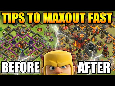 TIPS TO MAXOUT😎YOUR BASE FAST IN CLASH OF CLAN