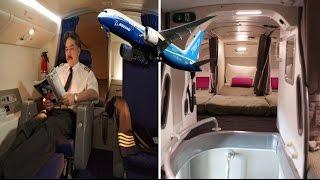 Secret Bedrooms on Planes Where Pilots and Crew Sleep on Long-Haul Flights
