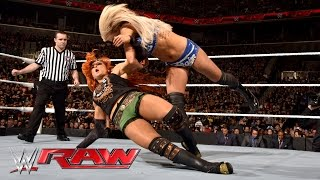 Becky Lynch vs. Charlotte: Raw, March 28, 2016