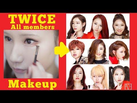 TWICE All Members Makeup TransformationsTutorial