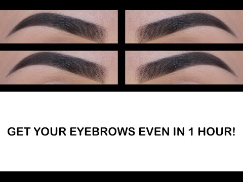 HOW TO GET YOUR BROWS EVEN IN UNDER AN HOUR!