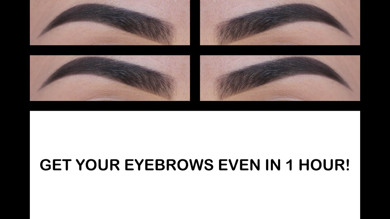 How To Get Your Brows Even In Under An Hour Youtube