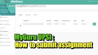 Myguru Upsi How To Submit Assignment