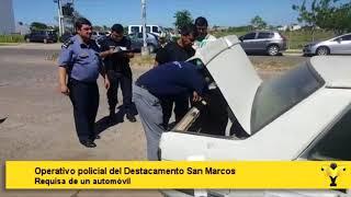 Operativo policial del Destacamento San Marcos