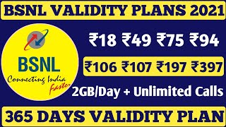BSNL New Validity Plans 2021 | BSNL Validity Kaise Badhaye | BSNL Validity Recharge in 2021 | #BSNL