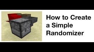 Minecraft bir Randomizer Oluşturma