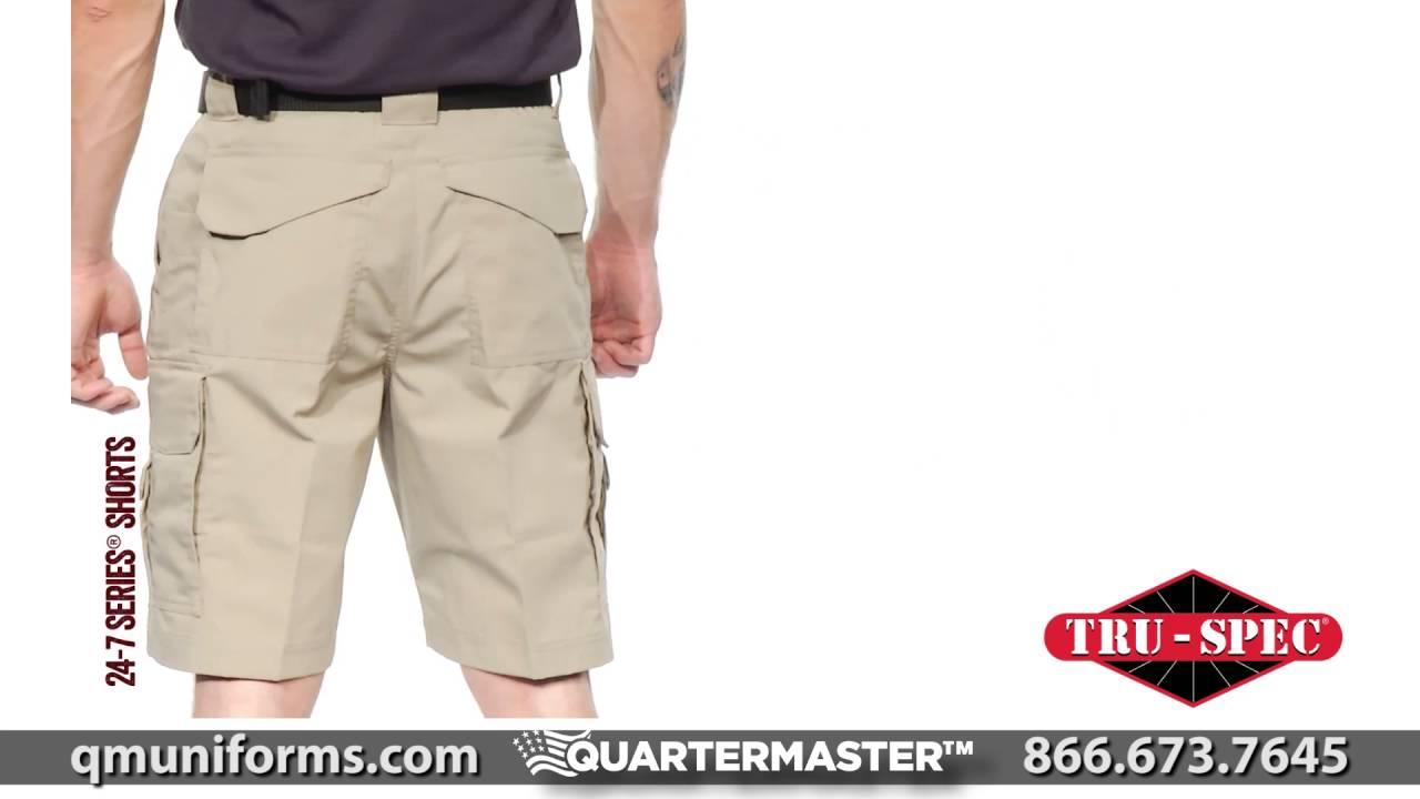 0a9de7fc90f23 Tru-Spec 24-7 Ripstop Shorts at Quartermaster - TR573 - YouTube