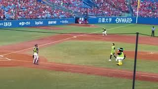 7月31日神宮球場での始球式.