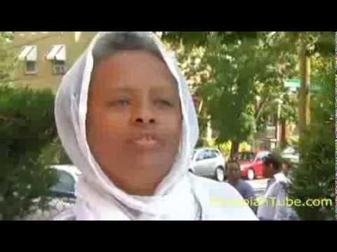 Ethiopian Man smashes St. Mary's picture at Ethiopian Orthodox Church in Washington, DC