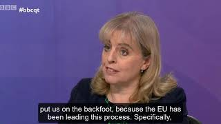 Catherine Barnard on BBC Question Time: a second referendum