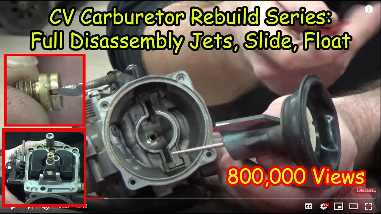 01 how to cv carburetor disassembly recording jets and settings cleaning carb rebuild series [ 1280 x 720 Pixel ]