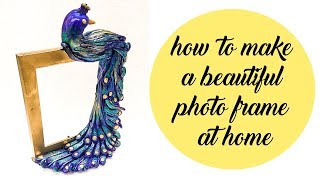 how to make photo frame at home | photo frame with clay | Magic quill screenshot 3