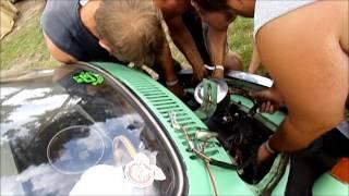 super vw festival 2014 démontage moteur sur le camping