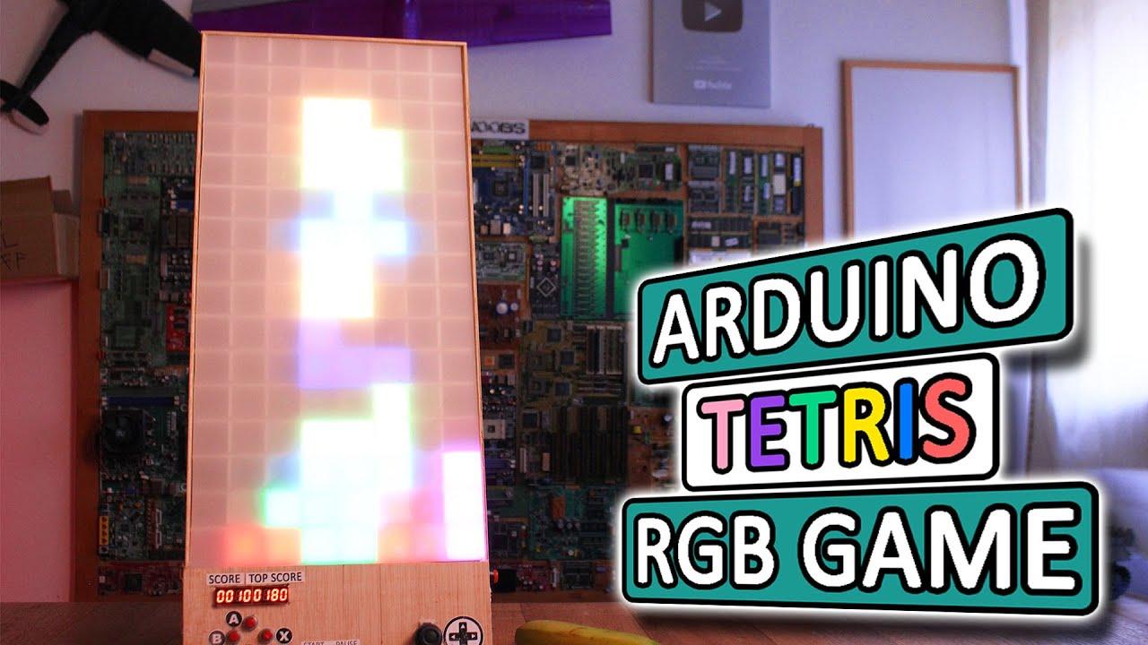 Big And Glowy Tetris Via Arduino Hackaday