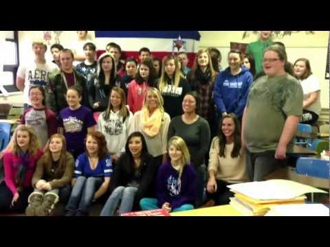 Pope County High School sends a special message to Bless An Orphan.