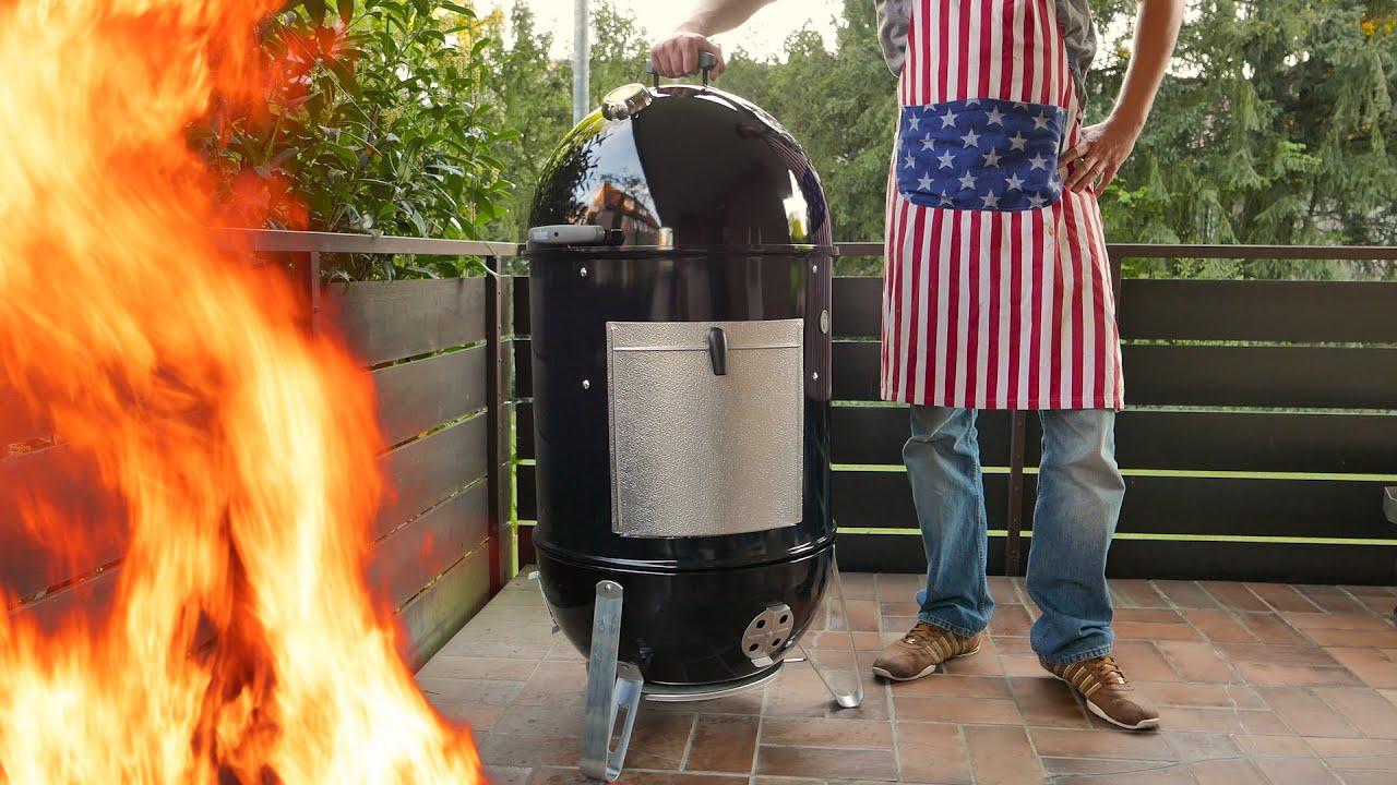 Weber Holzkohlegrill 57 Cm : Johnny checkt weber smokey mountain cm die grillshow special