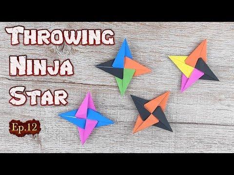 Origami Throwing Ninja Star   How To Making a Ninja Weapon Tutorial   DIY Paper Blade Shuriken Ep.12