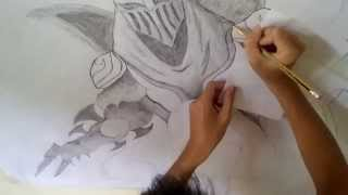 [ C8 ] Drawing Zed - League Of Legends in Big Size Paper A0