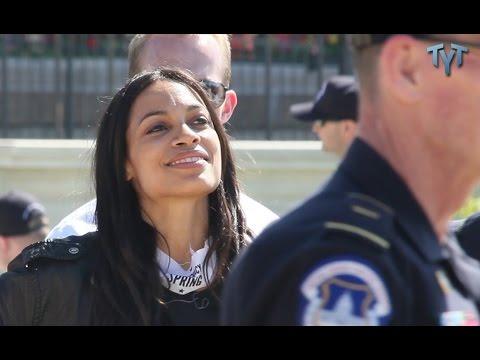 Rosario Dawson Arrested #DemocracySpring