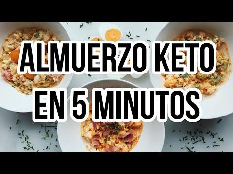Almuerzo cetogenico en 10 minutos