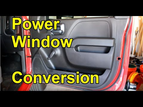 [HOW TO] Convert Manual Crank Windows to Power Windows - 2016 Silverado W/T