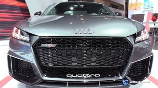 2018 Audi TT RS Quattro - Exterior And  Interior Walkaround - Debut At 2017 New York Auto Show